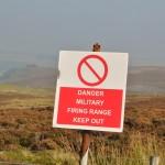 Danger firing range