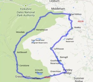 Wharfedale and nidderdale driving route