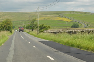 Road leading to Dibbles Bridge Near Hebden