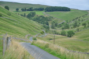 The road leading out of Kettlewell