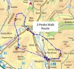 3 peaks walk map 3