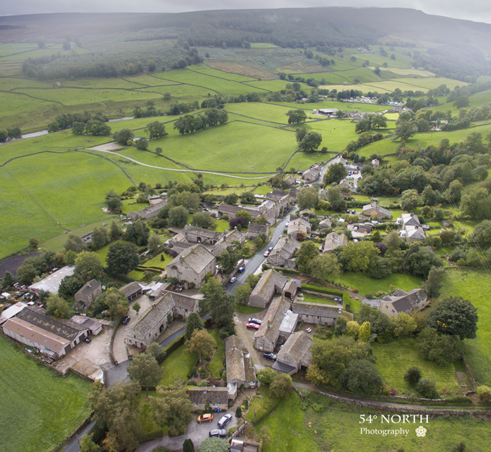 Aerial Photo of Appletreewick Yorkshirer Dales