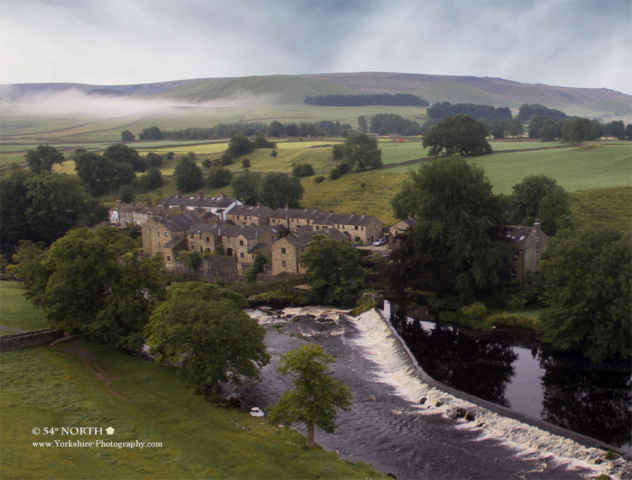 Aerial Photo of Linton Falls, Wharfedale, Yorkshire