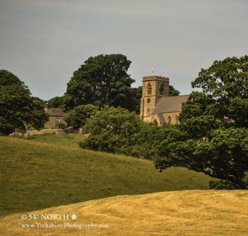 Middlesmoor church Nidderdale, Yorkshire in Summer