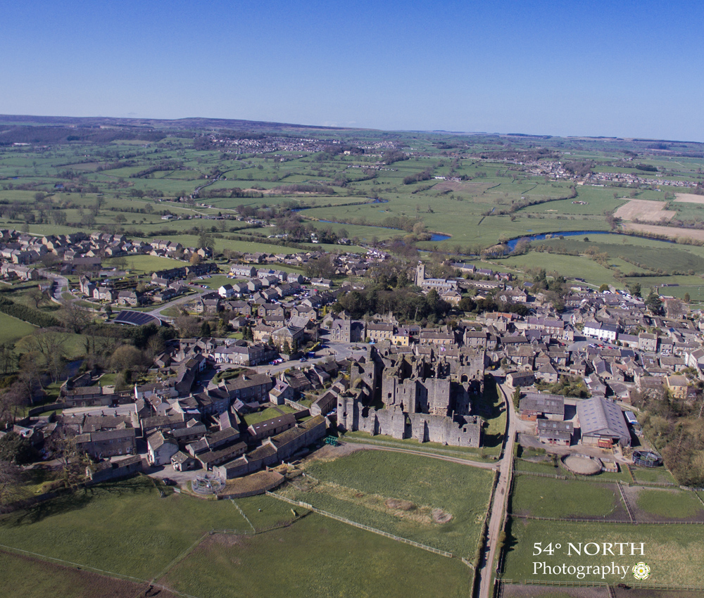 Aerial photo of Middleham, Wensleydale, Yorkshire