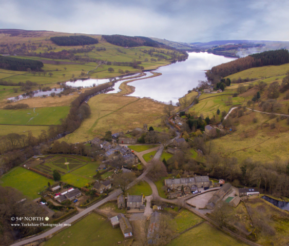 Aerial photo of Ramsgill and Gouthwaite Reservoir