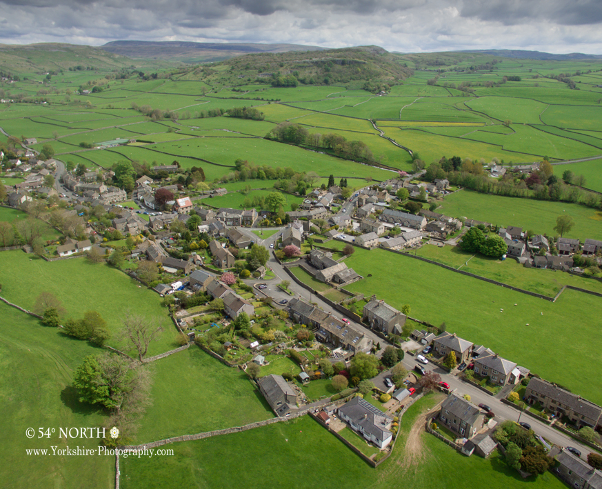 Aerial photo of Austwick Yorkshire Dales