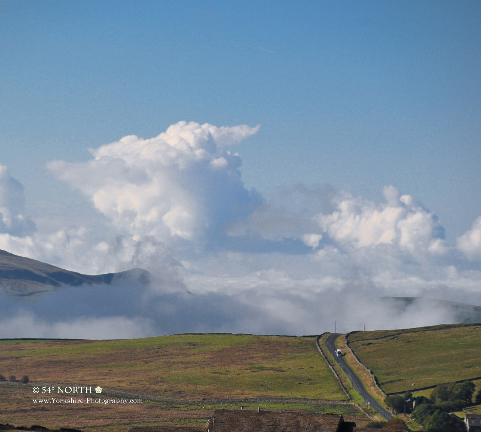 Cloud formation over the B6265 in Nidderdale