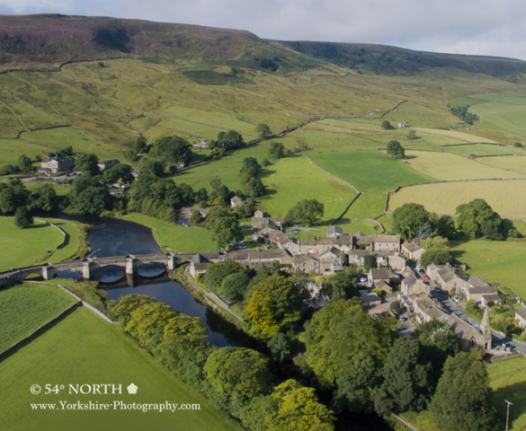 Aerial photo of Burnsall, Yorkshire