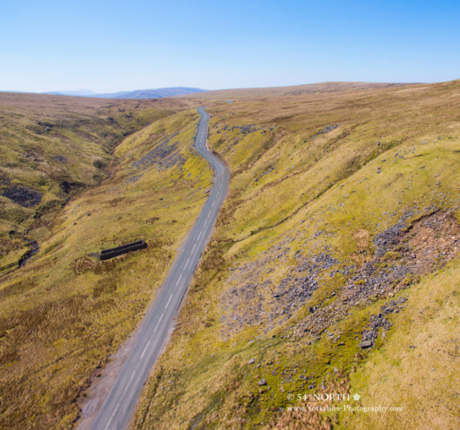 Aerial Photo of Buttertubs Pass Yorkshire