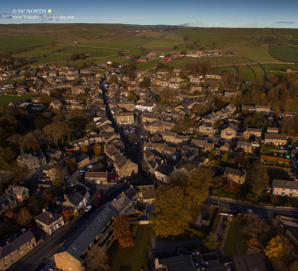 Aerial photo of Grassington, Yorkshire