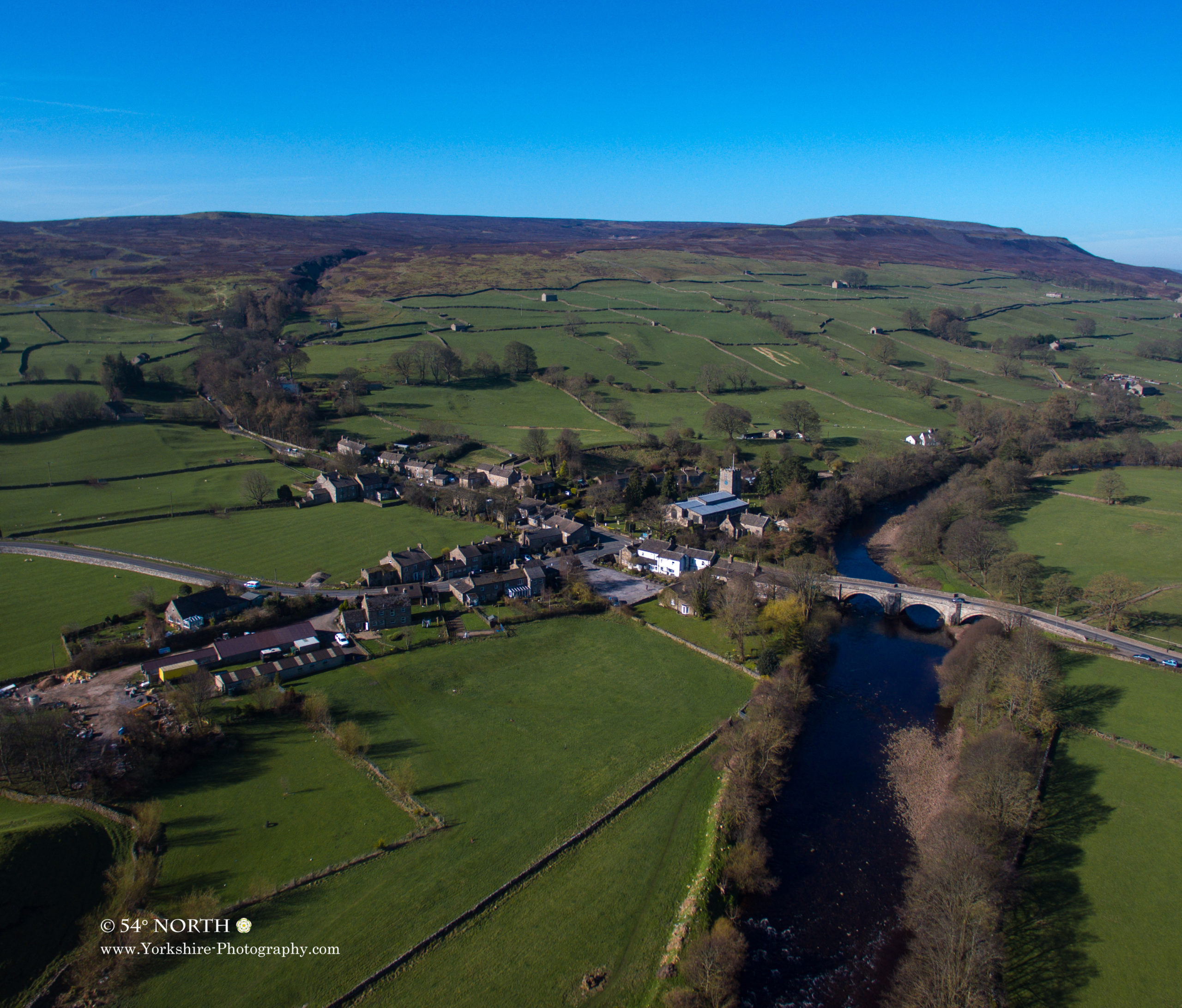 Aerial photo of Grinton, Swaledale