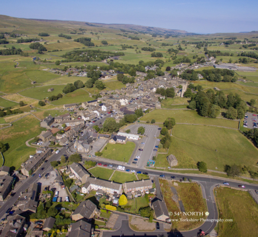 Aerial photo of Hawes, Wensleydale