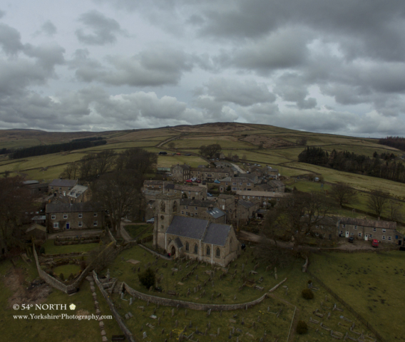 Aerial Photo of Middlesmoor, Nidderdale